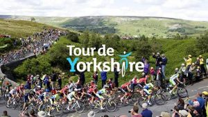 """""""WALK TO THE TOUR DE YORKSHIRE FINALE AT THE COW AND CALF ROCKS."""" A Baildon Walkers are Welcome guided walk @ Meet at Baildon Potted Meat Stick,"""